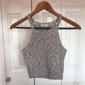 Gray Crop Top Size S/M